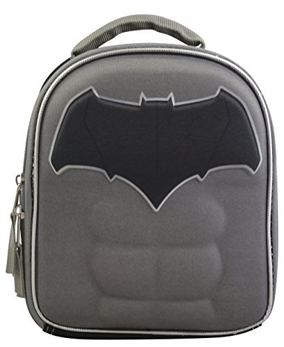 Marvel DC Comics Superheroes Domed Shaped 3D Pop Out Boys' Insulated Lunchbox Lunch Kit (Batman)