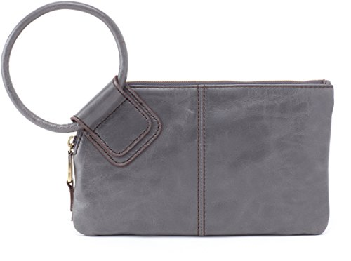 Hobo Women's Leather Sable Wristlet Clutch Wallet (Graphite) by HOBO