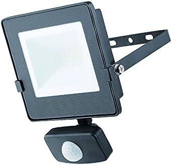 Masterplug Proyector LED con Sensor de Movimiento PIR, 10 W, Negro ...