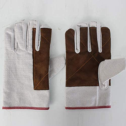 HAPzfsp 手袋 労働保険手袋二重厚手手袋メカニカル溶接手袋ショートワーク手袋/ 10足 グローブ保護手袋、仕事、農場