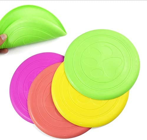 Dafang Dog Frisbee Outdoor Flying Disc Training Assorted Flying Disk for Outside Play - Pack of 4