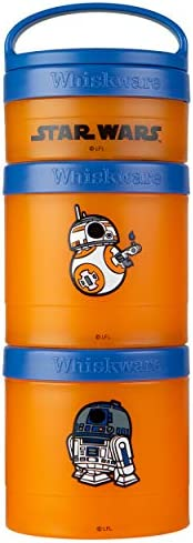 Whiskware Star Wars Stackable Storable Snack Pack, 2 1/3 cups, R2-D2 & BB-8