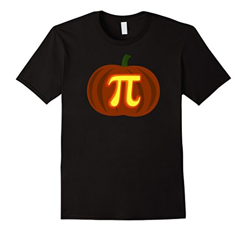 Mens Funny Halloween and Thanksgiving Pumpkin Pi Math Shirt Large Black