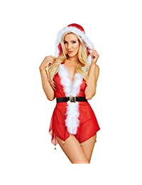 HHmei Women Christmas COS Shorts Panty High Waist Underwear Lingerie + G-String