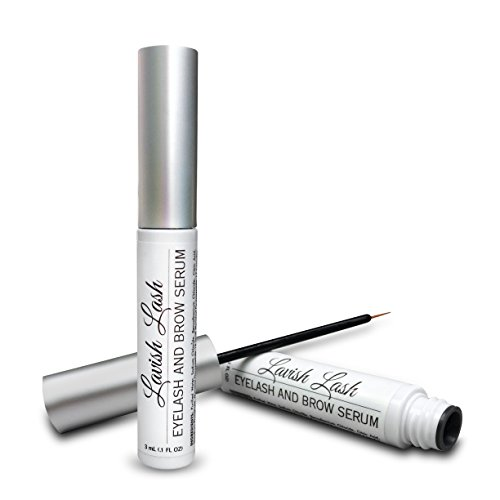 Pronexa Hairgenics Lavish Lash - Eyelash Growth Enhancer & Brow Serum with Biotin & Natural Growth Peptides for Long, Thick Looking Lashes and Eyebrows! Dermatologist Certified & Hypoallergenic. (Apple Water Lilly)