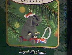 Ornament QXM6041 Loyal Elephant 2000 Miniature Hallmark