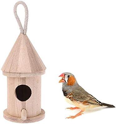 Tlwrnop Casas para Pájaros Nidos para Pájaros Caja De Nido De ...