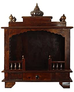 Buy Handcrafted Teak Wood Pooja Mantap / Mandir/ Home Temple ...