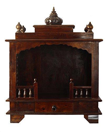 Aarsun Customizable Teak Wooden Temple For Home Amazon In