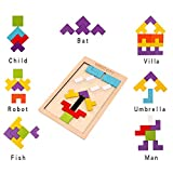 Wooden Tetris Puzzle with a Storage Bag - WOOD CITY