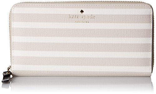 Kate spade new york Fairmount Square Lacey Wallet, Crisp Linen/Cream, One Size