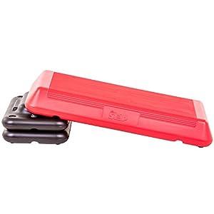 "The Step Freestyle Aerobic Platform, 28.5"" L x 14.5"" W x 4"" H, Red/Black"