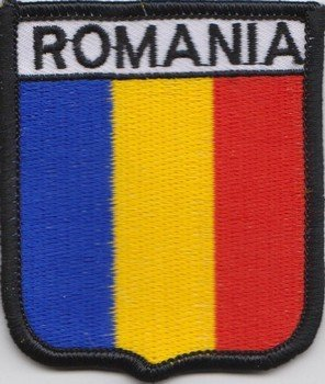 (Romania Romanian Flag Embroidered Patch Badge)