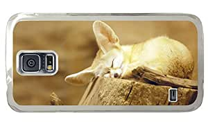 Hipster Samsung Galaxy S5 Case funny fennec fox snooze PC Transparent for Samsung S5