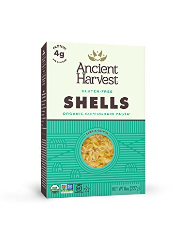 Ancient Harvest Organic Gluten Free Pasta Shells, 8 Ounce (Pack of 12)