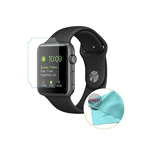 EXINOZ Apple Watch Screen Protector I Protection with 1-Year Replacement Warranty I Get the Best for Your Apple Smart Watch (42mm 2 Pack) by EXINOZ (Image #3)
