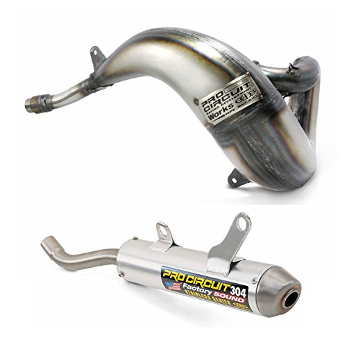 Works Pipe /& 304 Silencer Pro Circuit Exhaust System compatible with Yamaha YZ250 YZ250X 2003-on/_PY05250|SY03250-SE