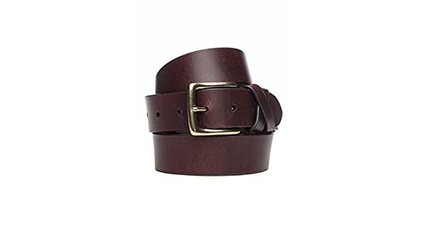 Mens Crown /& Ivy Cut Edge Jean Leather Belt with Cross Loops