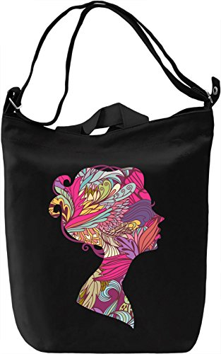 Girl silhouette Borsa Giornaliera Canvas Canvas Day Bag| 100% Premium Cotton Canvas| DTG Printing|