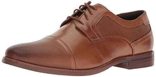 Rockport Men's Style Purpose Cap Blucher Oxford, Cognac Leather, 14 M US by Rockport