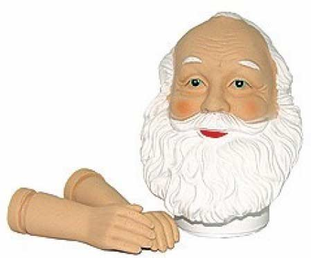 (Vinyl Santa Claus Head & Hands Sets for Doll Making and Holiday Crafting (Package of 6 Sets))