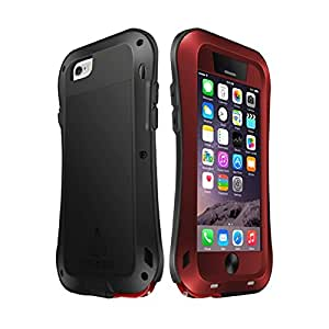 Protection&personality LOVE MEI for iPhone 6 Plus Metal Ultra-thin Small Waist Waterproof Dustproof Shockproof Powerful Protective Case ( Color : Red )