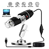 USB Microscope WADEO 40X To 800X Digital Microscope Camera, 8 LED USB 2.0 Magnification Endoscope Digital Endoscope Magnifier Electronic Microscope Mini Microscopes with Metal Stand Compatible with Windows 7/Vista/XP/2000, Mac OS X 10.5