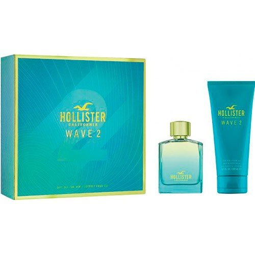 California Wave 2 by Hollister Eau De Toilette Spray 100ml & Body Wash 200ml