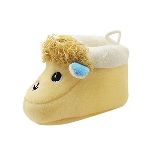 Price comparison product image Oksale Newborn Baby Boy Girl Cute Winter Soft Sole Boots Prewalker Warm Shoes (1-12Month,  Yellow)