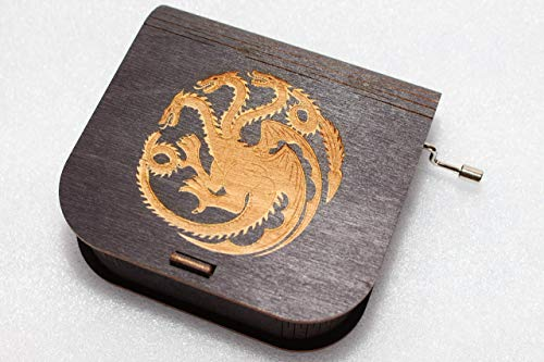 Game Of Thrones Music Box - House Targaryen - Engraved Wooden Box -