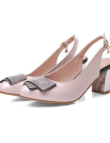 UWSZZ Die Sandalen elegante Comfort Schuhe Frau - Sandalen - Büro und Arbeit/formellen/Casual-Heels/abgerundete Spitze/Keil - Kunstleder - Blau/Rosa/, 2-in-2 3/4-in-blau