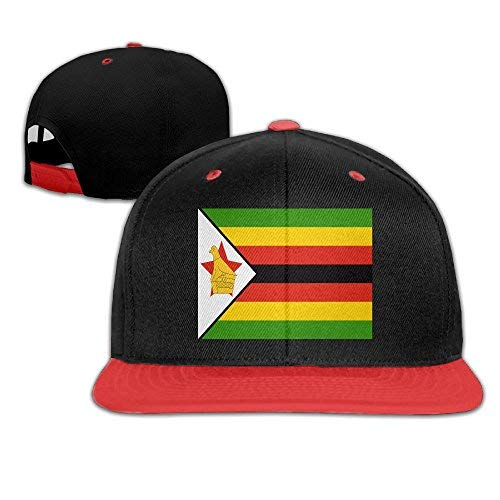 Soskeila Flag of Zimbabwe Customized Newest Trucker Hats for Girl Red -
