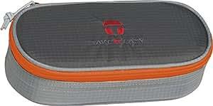 TakeItEasy 488164 - Neceser ligero con separadores internos, nailon, color gris y naranja
