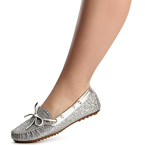 topschuhe24 - Bailarinas para mujer plata