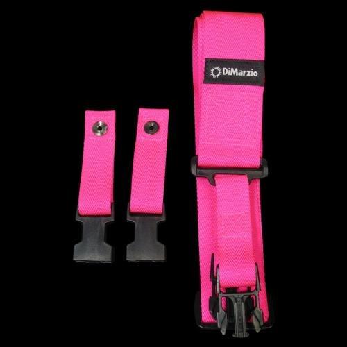 DiMarzio Nylon ClipLock Neon Guitar Strap Pink