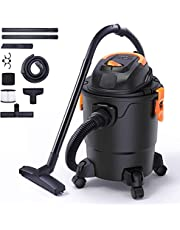 Shop Vacuum, 5 Gallon Wet Dry Vacuum, 1.5 Peak HP, Lightweight Powerful Suction Shop Vacuum with Blower, 1000W Portable Shop Vacuum with Attachments, Garage, Basement, Workshop, Home