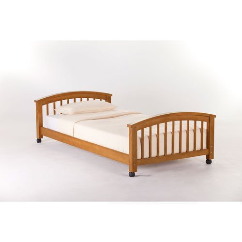 NE Kids SCHOOL HOUSE STUDENT LOFT TWIN LOWER BED Pecan