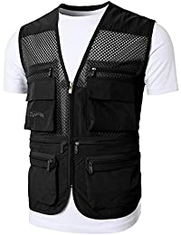 Mens Active Work Utility Hunting Travels Sports Mesh Vest with Pockets