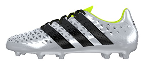 adidas Ace 16.3 FG J, Botas de Fútbol Para Niños Plata (Plamet / Negbas / Amasol)