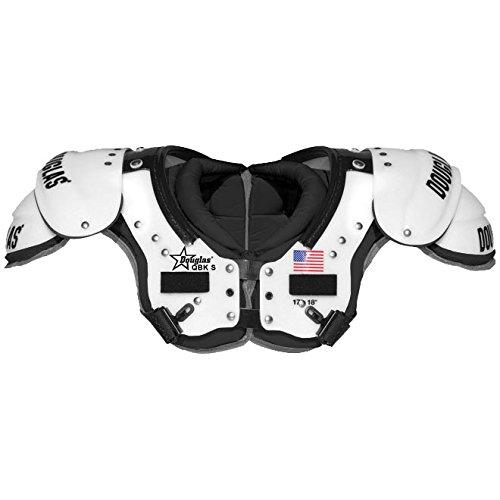 Douglas CP Series PCQK Adult Football Shoulder Pads - QB / WR / K - Black/Red-L