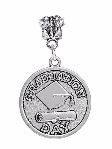 Graduation Day Graduate Gift Diploma Cap Dangle Charm for European Bracelets Crafting Key Chain Bracelet Necklace Jewelry Accessories Pendants