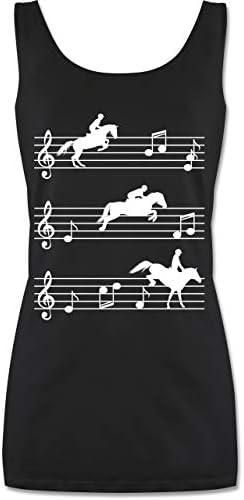 Shirtracer - Pferde - Pferde auf Musiknoten - weiß - Tanktop für Damen und Frauen Tops