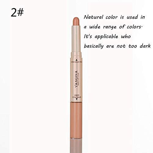 Concealer Liquid 2 In 1 Easy To Control Acne Black Eye Socket Concealer Oil Control Brighten Skin