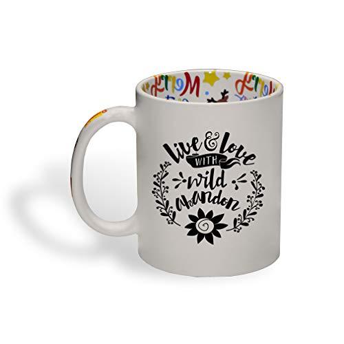 Style In Print Black Live & Love with Wild London Ceramic Christmas Coffee Mug 11 Oz