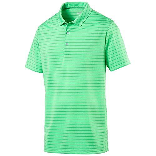 - PUMA Golf Kids Boy's Rotation Stripe Polo (Big Kids) Irish Green Large