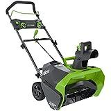 GreenWorks 26272 DigiPro G-MAX 40-volt Cordless Snow Thrower, 20-Inch