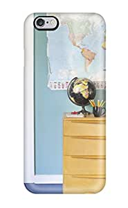 Lennie P. Dallas's Shop For Iphone 6 Plus Tpu Phone Case Cover(kids Room With Blue-green Wall Color Displays A World Map) 8199650K16478399