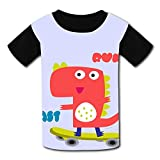 riverccc6.1500 Cute Dinosaur Run Fast Youth T-Shirt Boys Girls Tee