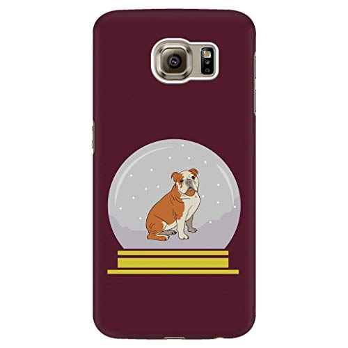 Snow Globe Bulldog Phone Case for Samsung Galaxy, Funny Gifts for Dog Lovers, Samsung Galaxy S6