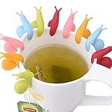 eBoot 10 Pcs Cute Snail Shape Silicone Tea Bag